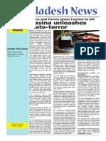 Hasina Unleashes State Teroe