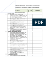 Checklist for Evaluation and Selection of Coursebook