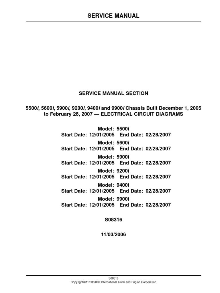 [CSDW_4250]   Diagramas Electricos 5500i_ 5600i_ 5900i_ 9200i_ 9400i and 9900i Chassis  Built December 1_ 2005 | Manufactured Goods | Vehicles | 2006 International Fuse Box |  | Scribd