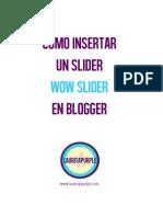 Como Insertar Wow Slider en Blogger