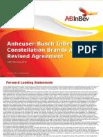 Constellation Brands (STZ) - Anheuser-Busch InBev and Constellation Brands Announce Revised Agreement - 02.14.13
