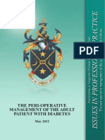 The Peri-operative Management of the Adult Patient With Diabetes