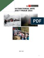 Plan Multisectorial Ante Heladas y Friaje 2014