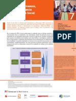 Estudio de caso 7 - Buena gobernanza, un camino hacia la resiliencia local