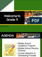 Grade 7 Course Information SY1516