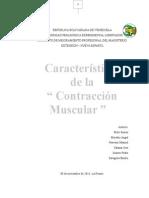 Caracteristicas de La Contraccion Muscular