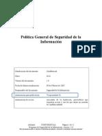 5.1.1 - Política General de Seguridad de La Información