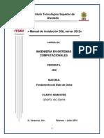 Manual de Instalacion SQL