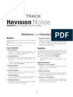 Revision Notes Maths XII