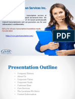 High Quality Transcription Services at Affordable Rate GMR Transcription