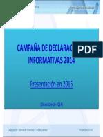 Sesion Informativa Diciembre 2014