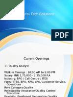 eshcol tech solutions pvt ltd, eshcol tech solutions,- Bpo