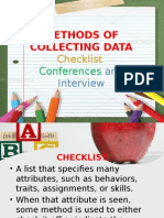 Methods of Collecting Data