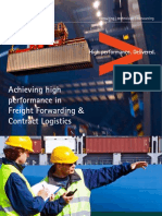 Achieving High Performance in Freight Forwarding and Contract Logistics