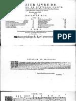 Le Roy Adrian-Premier Livre de Tablature de Guiterre-Paris