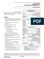 Fast Fourier Transform Datasheet