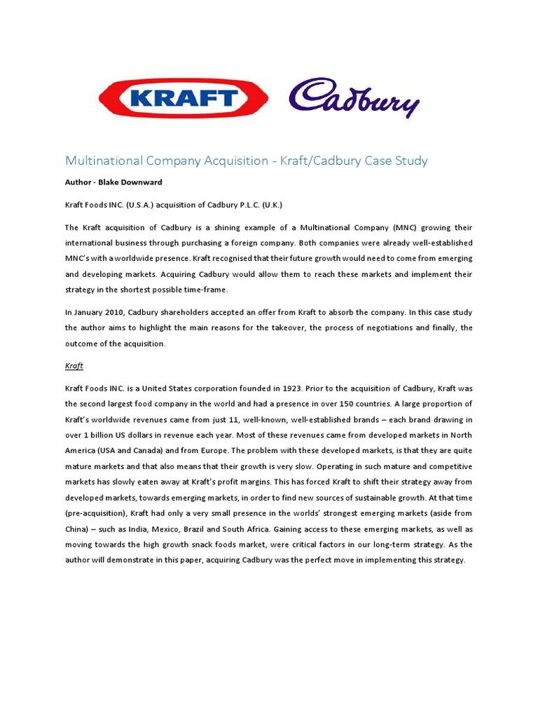 cadbury acquisition
