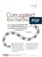 Art Jewelry Corrugated Knot Chain Bracelet Howard Siegel