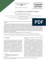 Propane Combustion Reaction Mechanism