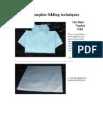 17shirt Napkin Fold