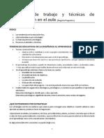 Dinámicas de Trabajo y Técnicas de Comunicación en El Aula Regueiro