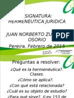 Presentacion Hermeneutica Enero de 2014