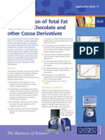 Determination of Total Fat Content in Chocolate and Other Cocoa Derivatives