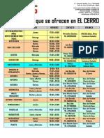 Actividades que se ofrecen en el Centro Cívico El Cerro de Coslada