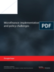 Microfinance Implementation Policy Challenges