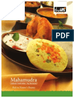 Maha Mudra Menu Card