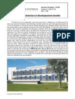 Analyse Architecture Solar XXi
