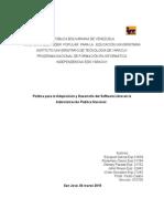 Política para la Adquisición y Desarrollo del Software Libre en la Administración Pública Nacional