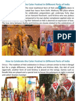 How to Celebrate the Color Festival in Different Parts of India