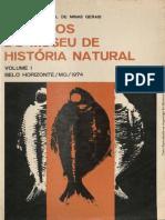 arquivo do museu de historia natural da UFMG - Volume I