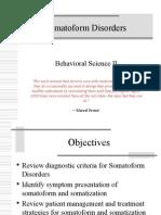 Somatoform Disorders (1)