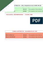 Tabela de Precos 2011