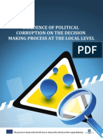 INFLUENCE OF POLITICAL CORRUPTION ON THE DECISION MAKING PROCESS AT THE LOCAL LEVEL