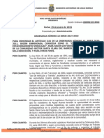 Ordenanza Numero 12 Enmienda Codigo de Transito Santa Clara