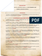 Pensiones Jurisprudencia Constitucional a Febrero 2009