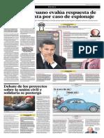 Gobierno Peruano Evalúa Respuesta de Chile Por Caso de Espionaje
