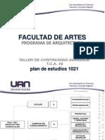 Taller de Continuidad Avanzada TCA #2-Facultad de Artes Programa de Arquitectura