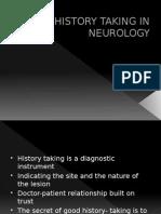 History Taking in Neurology