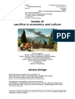 tenets of sacrifice in culture