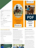 Western Horsemanship Camp Brochure