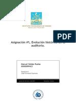 Asignación #1, Evolución Historica de La Auditoria, Manuel Valdez