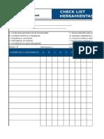 Check List de Herramientas Manuales y Eléctricas