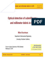 Optical Detection of Submillimeter and Millimeter Debris in LEO