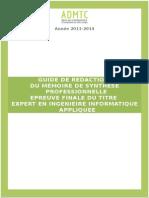 Guide_redaction_mémoire de Synthèse Professionnel