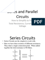 Series and Parallel Circuits Computations