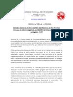Comunicado Conferencia de Prensa 4 de Marzo de 2015